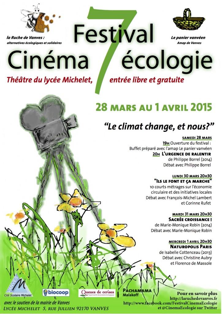 Une programmation de documentaires et courts métrages forts témoignant d'initiatives locales respectueuses de l'environnement, pour le 7e festival Cinéma Ecologie de Vanves.