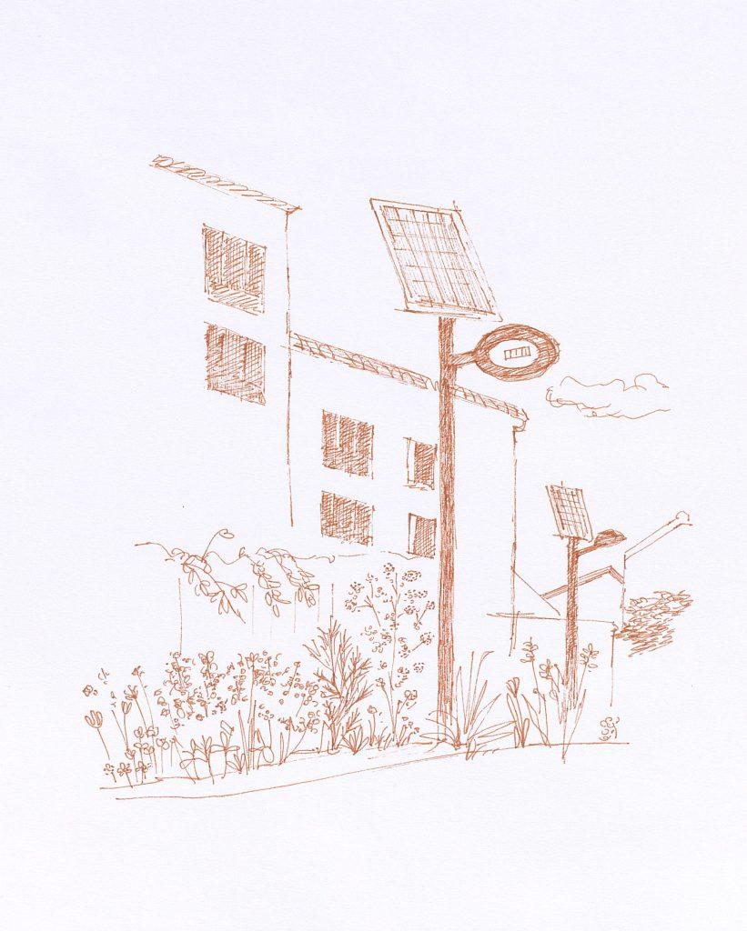 """""""Une parcelle collective et un panneau photovoltaïque"""""""